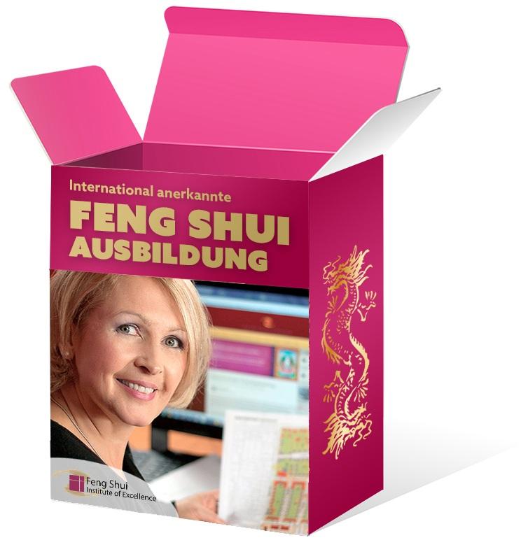 Feng Shui Ausbildung Box in Magenta