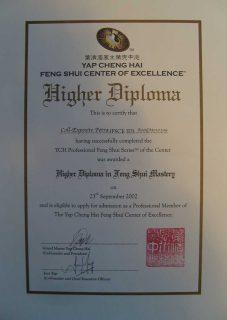 Feng Shui Ausbildung das Diplom