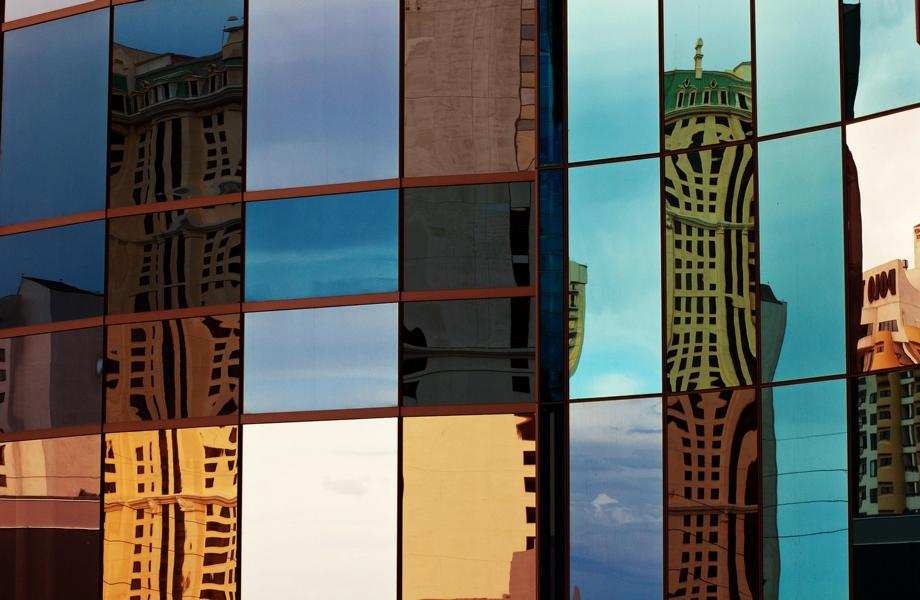 Mehrere Gebäude Fenster