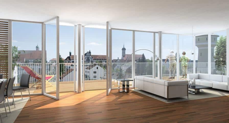 Ein Penthousewohnung